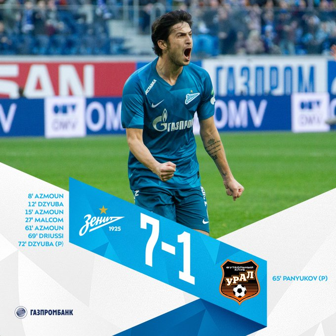 Zenit 7-1 Ural: Match Report