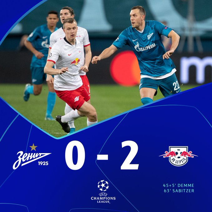 Zenit 0-2 RB Leipzig: Match Report