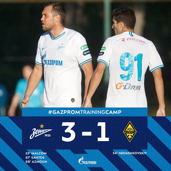 Zenit 3-1 Kairat: Match Report