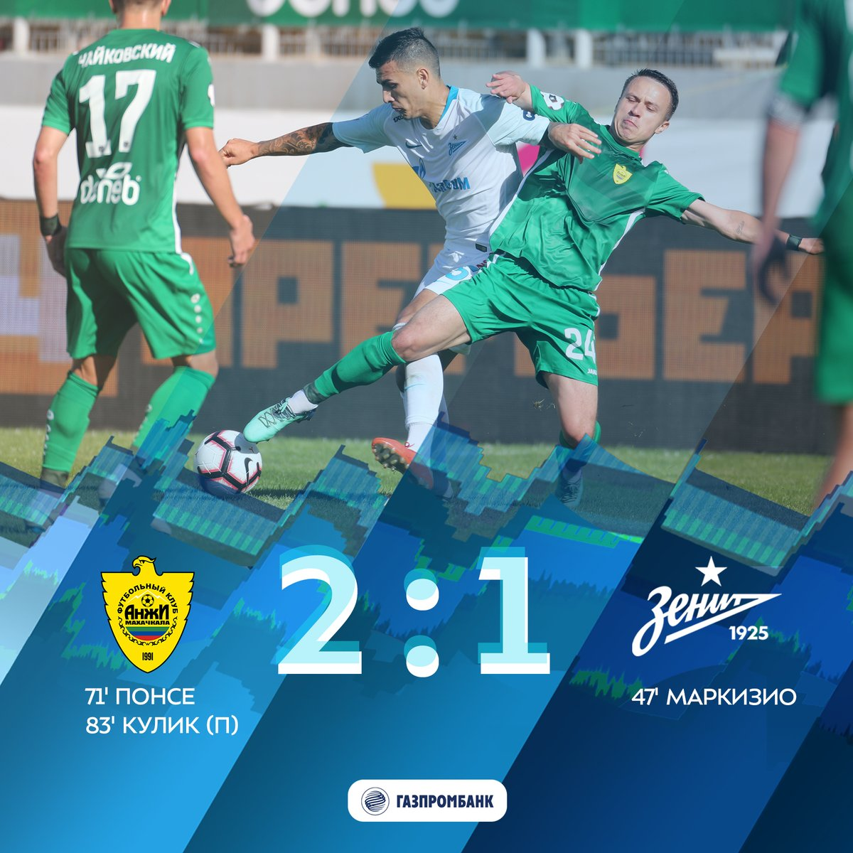 Anzhi 2-1 Zenit: Match Report