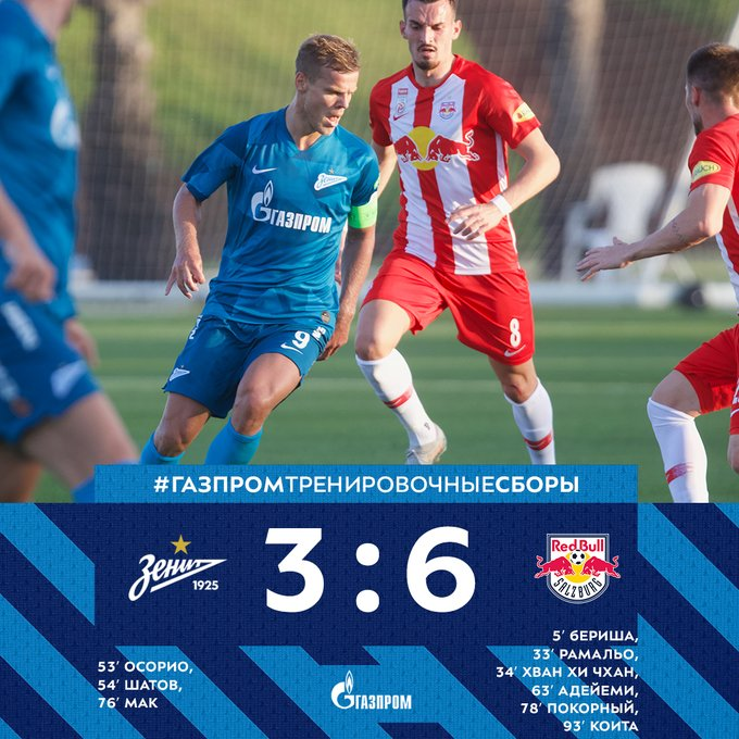 Zenit 3-6 Red Bull Salzburg: Match Report